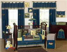 Construction Zone 9 pc Crib Bedding Ensemble | By DomesticBin