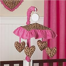 Cheetah Pink Musical Crib Mobile | By DomesticBin
