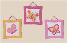 Butterfly Pink & Orange Wall Hangings | By DomesticBin