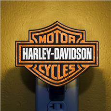 Harley Davidson Art-Glass Night Light | By DomesticBin