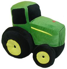 John Deere Traditional Tractor Shaped Pillow w/Sound | By DomesticBin