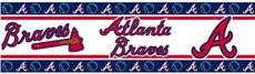 MLB Atlanta Braves Peel & Stick Wall Border | By DomesticBin