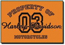 Harley Davidson Property Of Rug | By DomesticBin
