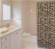 Wild Zebra Brown Shower Curtain | By DomesticBin