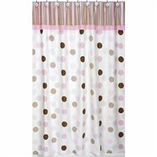 Mod Dots Pink Shower Curtain   By DomesticBin