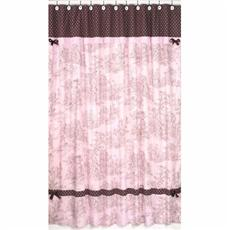 French Pink Brown Toile Shower Curtain by JoJo Designs