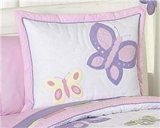 Butterfly Pink & Purple Pillow Sham | By DomesticBin