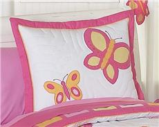 Butterfly Pink & Orange Pillow Sham | By DomesticBin