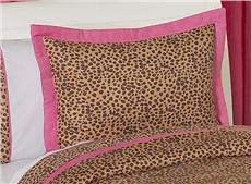 Cheetah Pink Pillow Sham | By DomesticBin