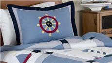 Come Sail Away Pillow Sham | By DomesticBin