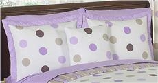 Mod Dots Purple Pillow Sham | By DomesticBin