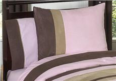 Soho Pink & Brown Pillow Sham   By DomesticBin
