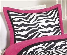 Zebra Pink Pillow Sham   By DomesticBin