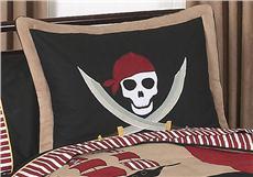 Pirate Treasure Cove Pillow Sham   By DomesticBin