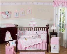 Ballerina 9pc Crib Bedding Set | By DomesticBin