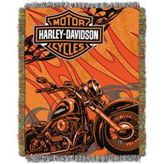 Harley Davidson® Cycle Tapestry Throw | By DomesticBin