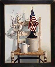 CHAIR/JUG/FLAG Wall Art | By DomesticBin