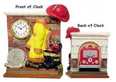 Fireman Gear w/ Truck Clock-Backordered | By DomesticBin