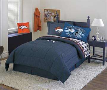 Denver broncos denim comforter sheet set combo for Denver broncos bedroom ideas