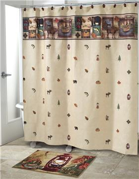 Camping Trip Shower Curtain and Bath Accessories | By DomesticBin