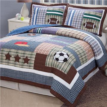 Field Sports Quilt Set for Boys | By DomesticBin