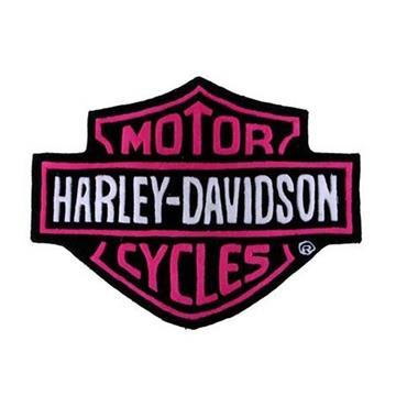 Harley Davidson Plush Rug Pink