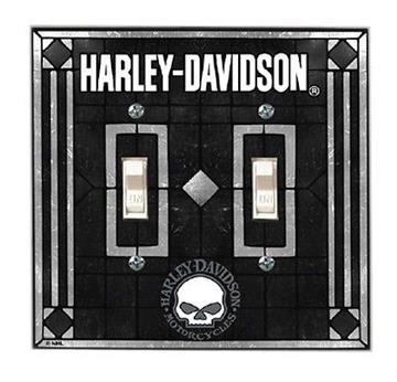 Harley Davidson Skull Double Switch Plate Cover