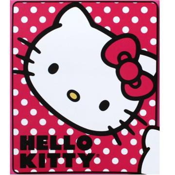 Hello Kitty Polka Dot Kitty Fleece Throw   By DomesticBin