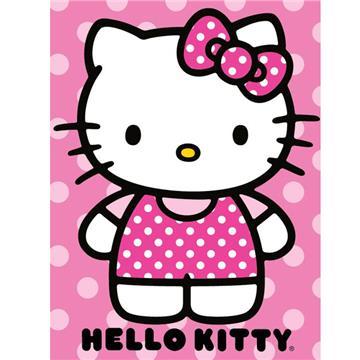 Hello Kitty Dot  Raschel Throw | By DomesticBin