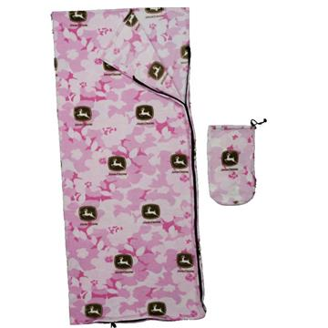 John Deere Pink Camo Sleeping Bag | By DomesticBin