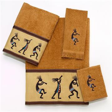 KOKOPELLI Nutmeg 4 Piece Towel Set | By DomesticBin