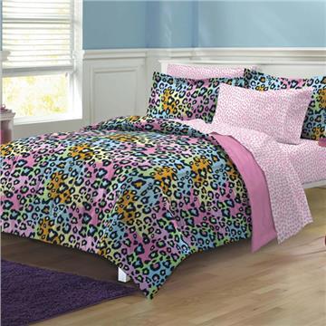 Neon Leopard Bed In A Bag Set | By DomesticBin