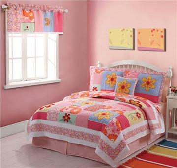 Olivia Pink Quilted Bedding & Accessories