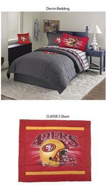 San Francisco 49ers Denim Pillow Sham | By DomesticBin