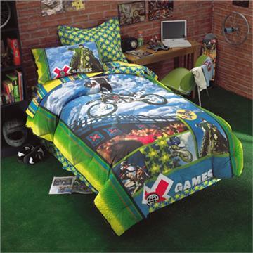 X games motocross bedding for boys for Dirt bike bedroom ideas