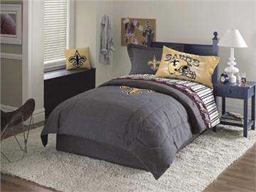 new orleans saints denim comforter & sheet set combo