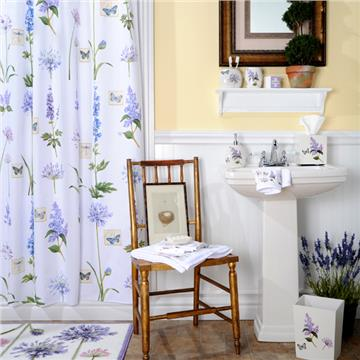 Etude de Fleur Shower Curtain, Towels & Bathroom Accessories