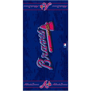 Atlanta Braves Fiber Reactive Beach Towel