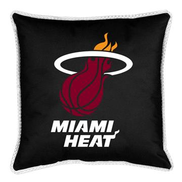 "Miami Heat Sidelines 18"" Square Pillow 