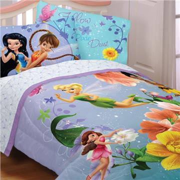 Fairies Fantasy Floral Bedding for Girls | By DomesticBin