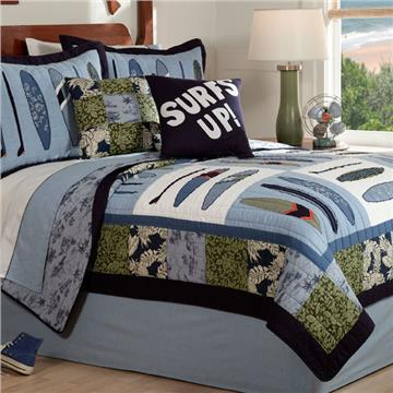 Catch A Wave Quilted Bedding & Accessories | By DomesticBin