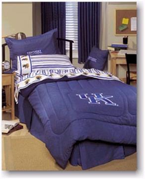 University of Kentucky  Denim Shams, Valance, Pillow | By DomesticBin