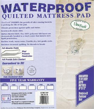 Waterproof Fitted  Mattress Pad  -- Quilted | By DomesticBin