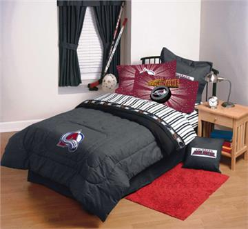 COLORADO AVALANCHE Twin Sheet Sets | By DomesticBin