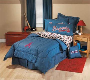 ATLANTA BRAVES Denim Comforter & Sheet Set Combo