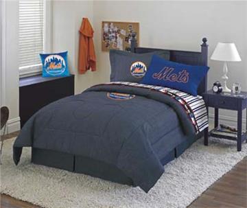 NY METS Denim Comforter & Sheet Set Combo