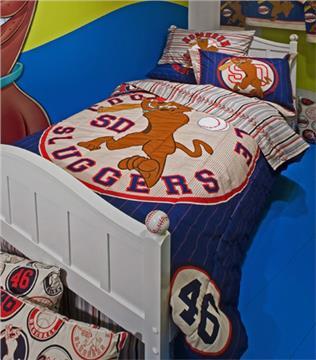 SCOOBY BASEBALL Kids Bedding for Boys Bedskirt