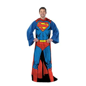 Superman Comfy Throw Blanket with Sleeves