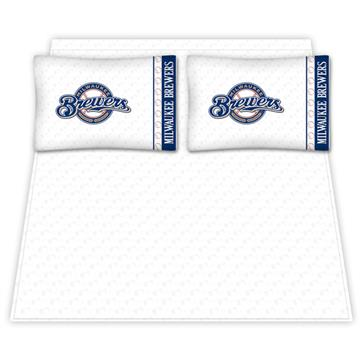 Milwaukee Brewers Microfiber Sheet Sets & Extra Pillowcases | By DomesticBin