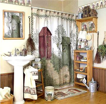 Outhouse Shower Curtain, Towels & Bathroom Accessories